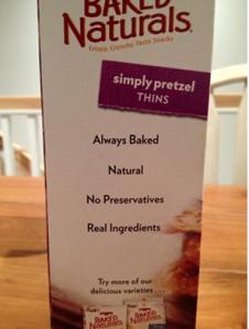 Side of a pretzel box